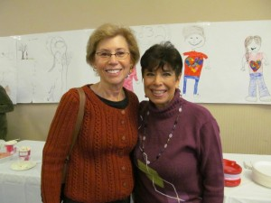 Mitzvah Day co-chairs Carolyn Wodar and Lorraine Brown