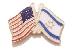 US Israel pin