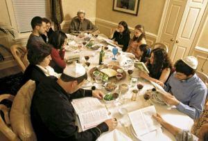 Family at seder