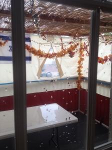 Sukkah in the rain