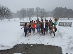 Yoginis in the snow